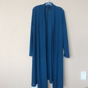 Rags and Couture Sweaters - Long Blue Cardigan