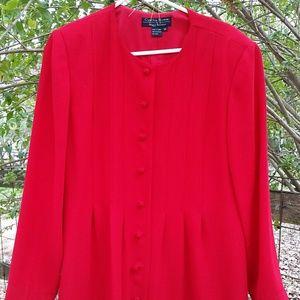 Cynthia Howie Dresses & Skirts - CYNTHIA HOWIE Vintsge Red Pleated Dress Sz 14