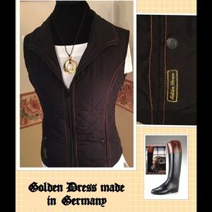 🌺 Golden Dress Equestrian Vest