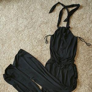 Pants - Black one piece jumpsuit!