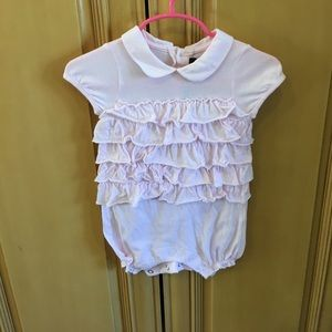 Lili Gaufrette Other - Baby girl pink romper size 9 months