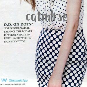 J. Crew Dresses & Skirts - ❌SOLD❌ J Crew Pencil Skirt in Pop Art Polka Dot