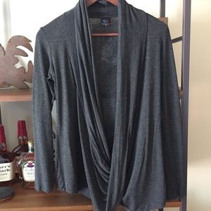Rags and Couture Tops - Rags and Couture twist front cardigan