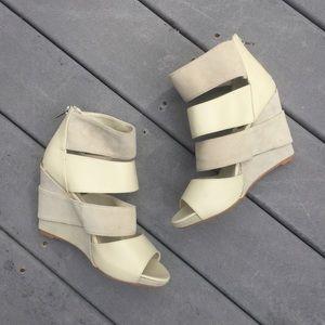 Deena & Ozzy Shoes - NWOT Deena & Ozzy Nude Multi-Strap Wedge