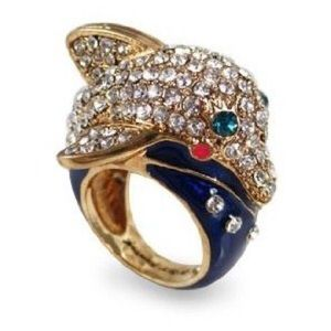 Betsey Johnson Jewelry - Betsey Johnson Dolphin Bling Ring