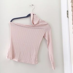 9e9ba525a33 Tops | Nessa Blush One Shoulder Choker Top | Poshmark
