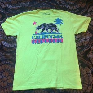 riot society Other - Neon yellow California Republic shirt