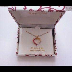 Jewelry - Ruby & Diamond Heart Necklace