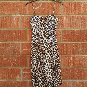 Cache rockabilly animal print dress small