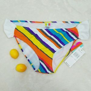Raisins Other - NWT Colorful Striped Bikini Bottoms sz XL G7