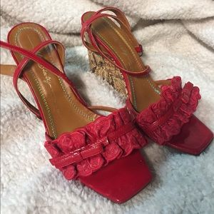 Miss Sixty Shoes - Red dressy wedge sandals