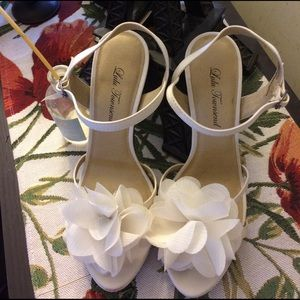 Lulu Townsend Shoes - Lulu Townsend wedding shoes 7 1/2 wide pre-owned
