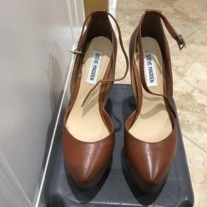 ac24955ea Steve Madden Shoes - Steve Madden Deeny Cognac Leather D'Orsay Pumps