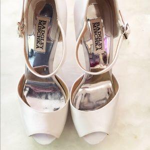 Badgley Mischka Shoes - 'Gene' Crystal Back Ankle Strap Pump