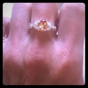 custom Jewelry - Size 5 treated morganite in sterling silver