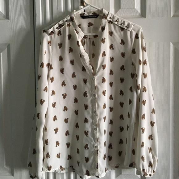 Horse Print Blouse Zara 90