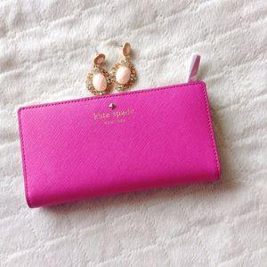 kate spade Handbags - Kate Spade pink Stacy wallet NWT