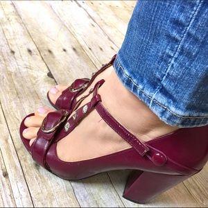 naughty monkey Shoes - Naughty Monkey magenta strappy heels