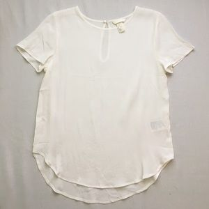 H&M white sheer blouse.