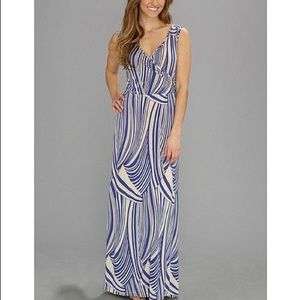 Lucy Love Dresses & Skirts - Lucy Love Cleo Maxi Dress blue cream size Small