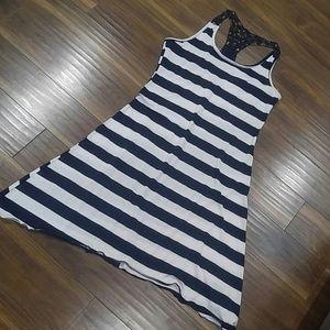 5th & Love Dresses & Skirts - Striped sharkbite racer back dress