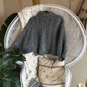 Sweaters - Grey knit sweater