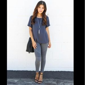 vici collection Pants - Grey Moto Jeggings