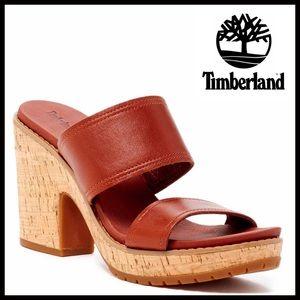 Timberland Shoes - ❗️1-HOUR SALE❗️TIMBERLAND LEATHER PLATFORM SANDALS