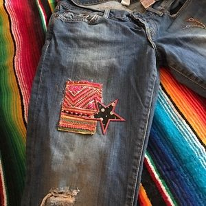 Lucky Brand Denim - Lil Maggie Lucky cut offs w/ patches