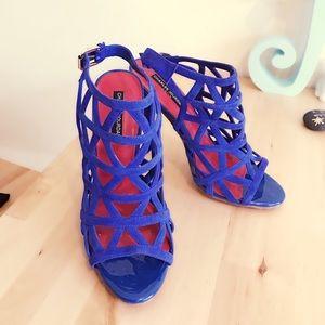 Charles Jourdan Shoes - Royal Blue Suede Charles Jourdan heels