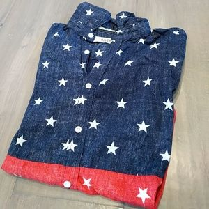 Univibe Other - Casual Button-Down Shirt with Stars