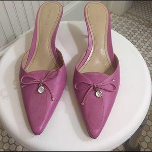 Ann Taylor Shoes - Ann Taylor Leather Mule Heels