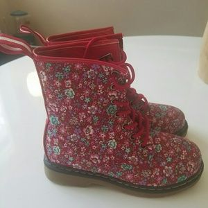 Link Other - H&M girls floral combat boots NWOT