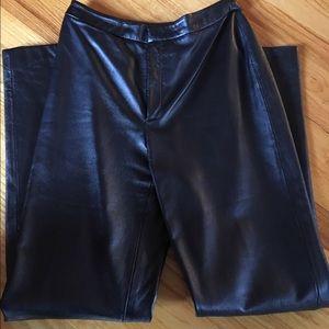 Dana Buchman LUXE Metallic Blue 💙 Leather Pants