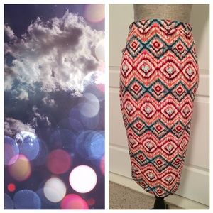 Matty M Dresses & Skirts - Marty M Colorful Ikat Pencil Skirt