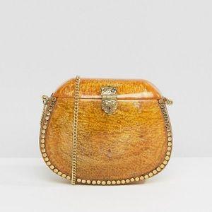 Park Lane Handbags - Park Lane Amber Enamel Cross Body Bag Coachella