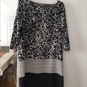 Zara Dresses & Skirts - Black and white leopard print shift dress by Zara