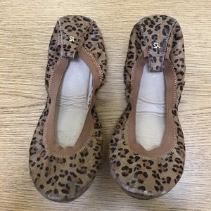 Yosi Samra Shoes - Yosi Samra- samara fold up ballet flat, leopard 🐆