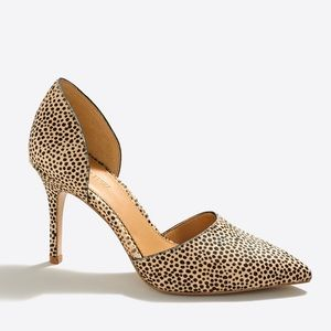 J. Crew Factory Shoes - J. Crew Factory Speckled Calf Hair D'Orsay Heels