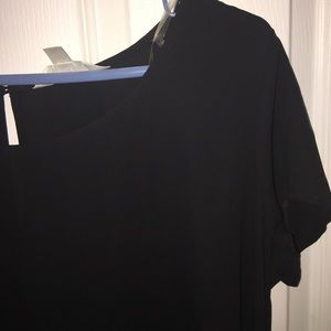 Mth Degree Tops - ‼️NWOT‼️Silky black dress shirt