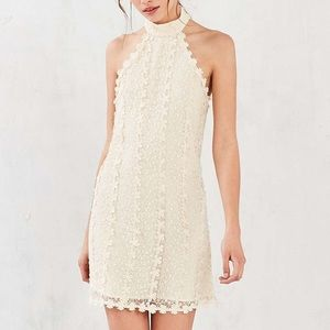 Urban Outfitters ivory mock neck lace dress NWT S