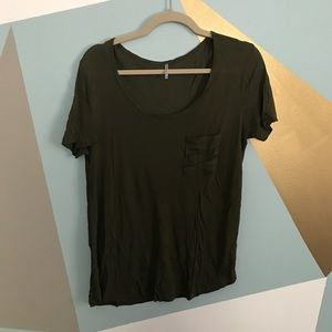 Tops - Army green tee