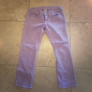 True Religion Pants - True Religion Size 28 Light Purple Capri Jeans