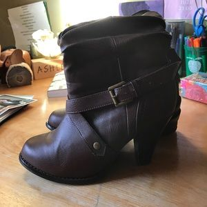 Target Shoes - Knee high brown boots