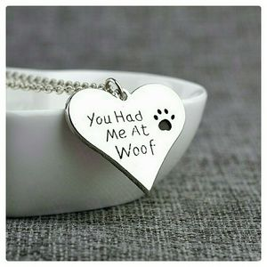 Jewelry - JUST IN: Heart Pet Pendant Necklace NWT