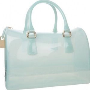 Furla Handbags - Furla Candy Bauletto Satchel - Cielo