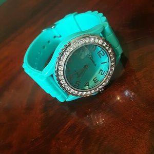 Geneva Platinum Jewelry - Geneva Turquoise Watch
