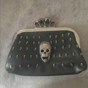 Handbags - Jeweled Skull clutch