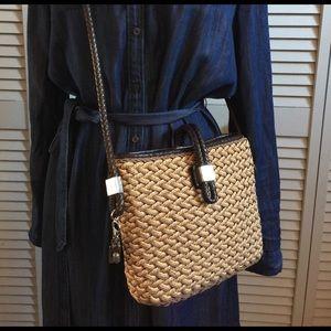 Brighton Handbags - Brighton Roxanne Staw and Leather Crossbody