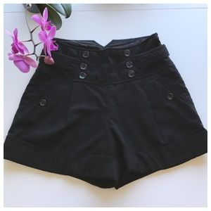 Anthro Black Idra High Waisted Shorts